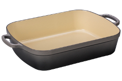 Le Creuset Signature Cast Iron 5 1/4 qt. Rectangular Roaster - Oyster
