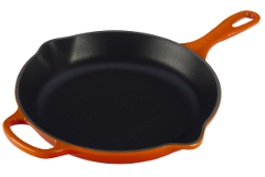Le Creuset Signature Cast Iron 10 1/4 inch Iron Handle Fry Pan - Flame