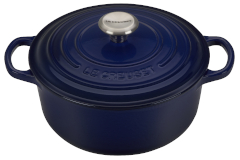 Le Creuset Signature Cast Iron 2 3/4 qt. Round Dutch Oven - Indigo