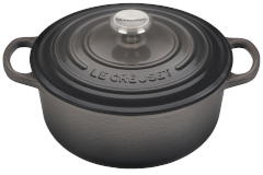 Le Creuset Signature Cast Iron 2 3/4 qt. Round Dutch Oven - Oyster