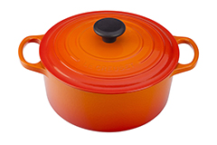 Le Creuset Signature Cast Iron 4 1/2 qt. Round Dutch Oven - Flame
