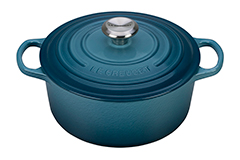 Le Creuset Signature Cast Iron 4 1/2 qt. Round Dutch Oven - Marine