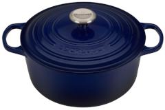 Le Creuset Signature Cast Iron 5 1/2 qt. Round Dutch Oven - Indigo