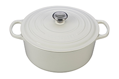 Le Creuset Signature Cast Iron 7 1/4 qt. Round Dutch Oven - White