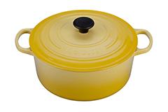 Le Creuset Signature Cast Iron 7 1/4 qt. Round Dutch Oven - Soleil
