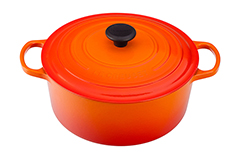 Le Creuset Signature Cast Iron 7 1/4 qt. Round Dutch Oven - Flame