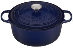 Le Creuset Signature Cast Iron Indigo Round Dutch Ovens