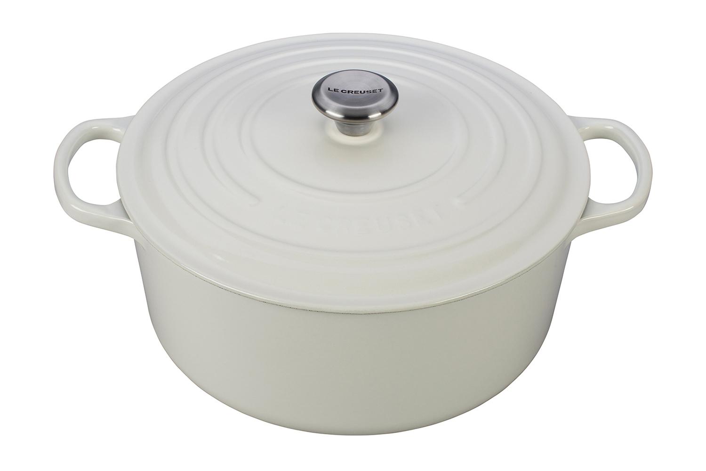 Le Creuset Signature Cast Iron White Round Dutch Ovens