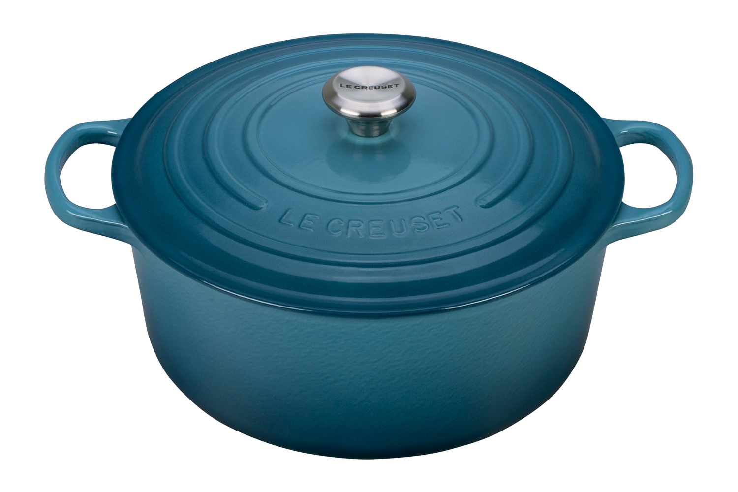 Le Creuset Signature Cast Iron 13 1/4 qt. Round Dutch Oven - Marine