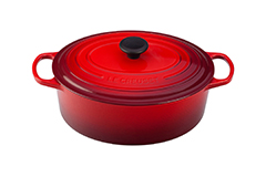 Le Creuset Signature Cast Iron 6 3/4 qt. Oval Dutch Oven - Cerise