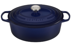 Le Creuset Signature Cast Iron 6 3/4 qt. Oval Dutch Oven - Indigo