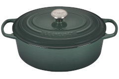 Le Creuset Signature Cast Iron 6 3/4 qt. Oval Dutch Oven - Artichaut