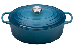 Le Creuset Signature Cast Iron 9 1/2 qt. Oval Dutch Oven - Marine