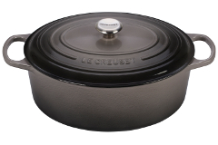 Le Creuset Signature Cast Iron 9 1/2 qt. Oval Dutch Oven - Oyster