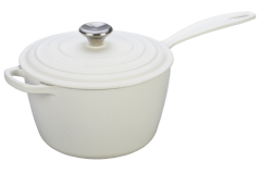Le Creuset Signature Cast Iron White Saucepans