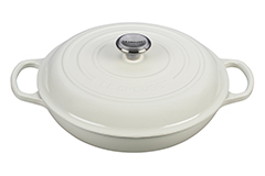Le Creuset Signature Cast Iron 3 1/2 qt. Braiser - White
