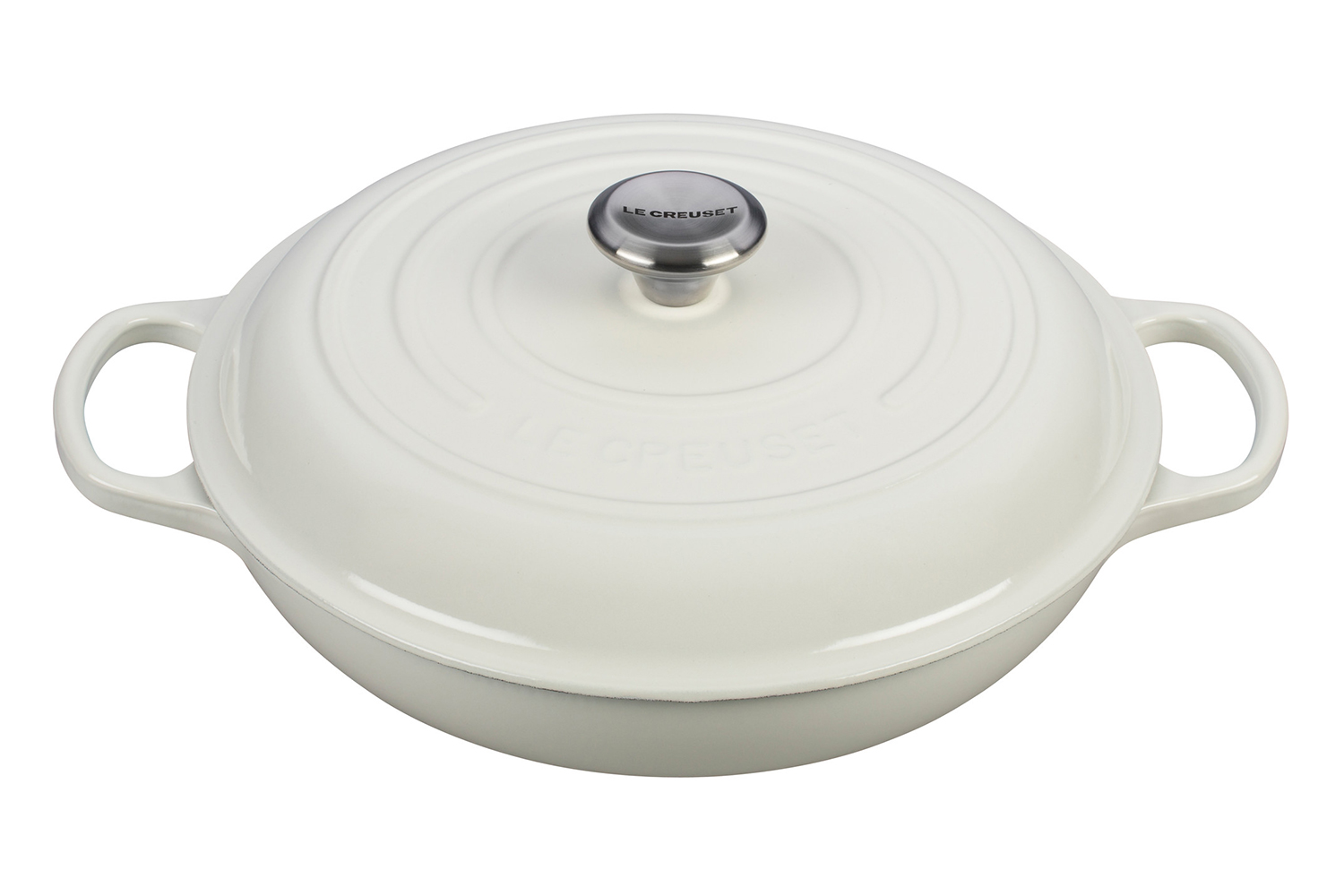 Le Creuset Signature Cast Iron 3 1 2 Qt Braiser White