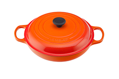 Le Creuset Signature Cast Iron 3 1/2 qt. Braiser - Flame