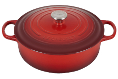 Le Creuset Signature Cast Iron 6 3/4 qt.  Round Wide Dutch Oven - Cherry
