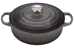 Le Creuset Signature Cast Iron 3 1/2 qt. Sauteuse - Oyster