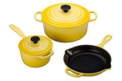 Le Creuset Signature Cast Iron 5 Piece Cookware Set - Soleil
