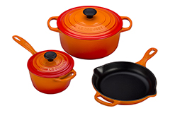Le Creuset Signature Cast Iron 5 Piece Cookware Set - Flame