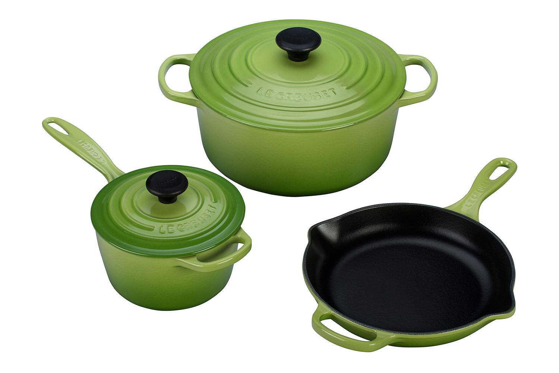 Le Creuset Signature Cast Iron 5 Piece Cookware Set - Palm