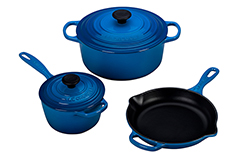 Le Creuset Signature Cast Iron 5 Piece Cookware Set - Marseille