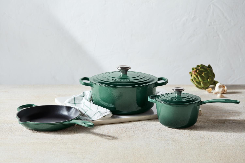 Le Creuset Signature Cast Iron 5 Piece Cookware Set - Artichaut