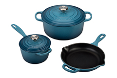 Le Creuset Signature Cast Iron 5 Piece Cookware Set - Marine