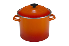 Le Creuset Enamel on Steel 8 qt. Stock Pot - Cherry