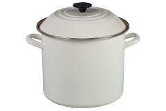 Le Creuset Enamel on Steel 10 qt. Stock Pot - White