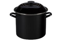 Le Creuset Enamel on Steel 10 qt. Stock Pot - Black