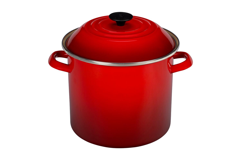 Le Creuset Enamel on Steel 16 qt. Stock Pot - Cerise