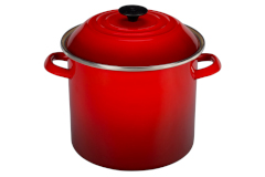 Le Creuset Enamel on Steel 10 qt. Stock Pot - Cerise