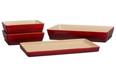 Le Creuset Scandinavia Bakeware 4 Piece Set - Cerise