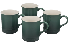 Le Creuset Stoneware Set of 4 Mugs - Artichaut