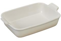Le Creuset Heritage Stoneware 2 1/2 qt. Rectangular Dish - Meringue