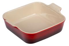 Le Creuset Heritage Stoneware 8 inch Square Dish - Cerise