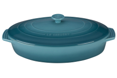 Le Creuset Stoneware 3 3/4 qt. Covered Oval Casserole - Caribbean