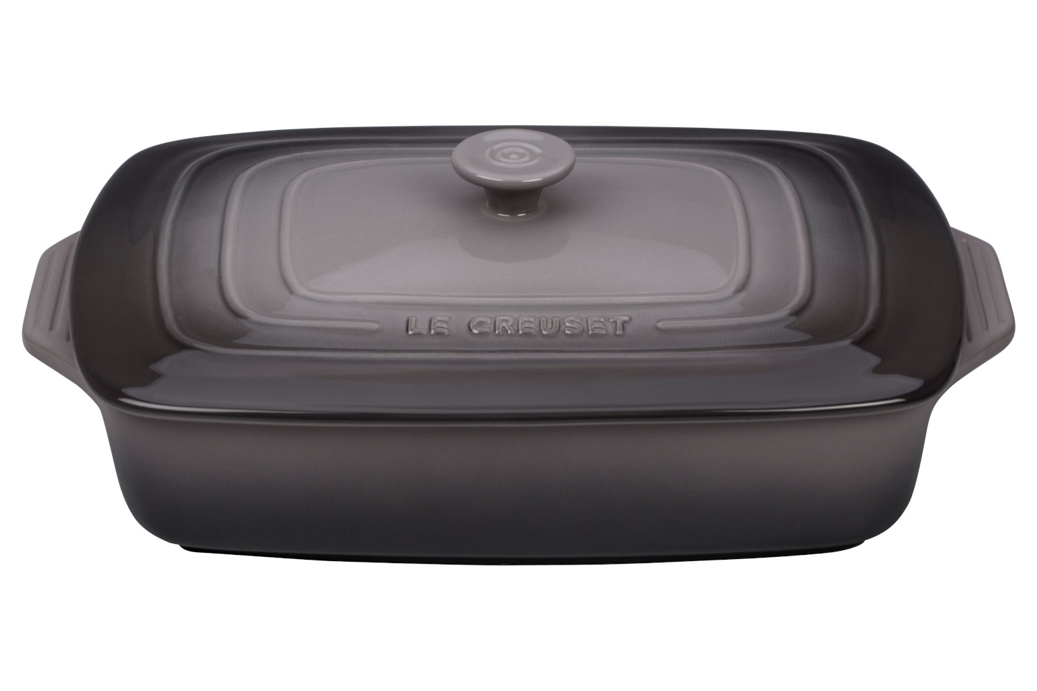 Le Creuset Stoneware 3 1/2 qt. Covered Rectangular Casserole - Oyster