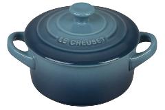 Le Creuset Stoneware Mini Round Cocotte - Marine