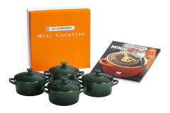 Le Creuset Stoneware Mini-Cocotte Set with Cookbook - Artichaut