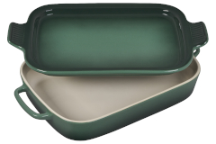 Le Creuset Stoneware Rectangular Baking Dish w/Platter - Artichaut