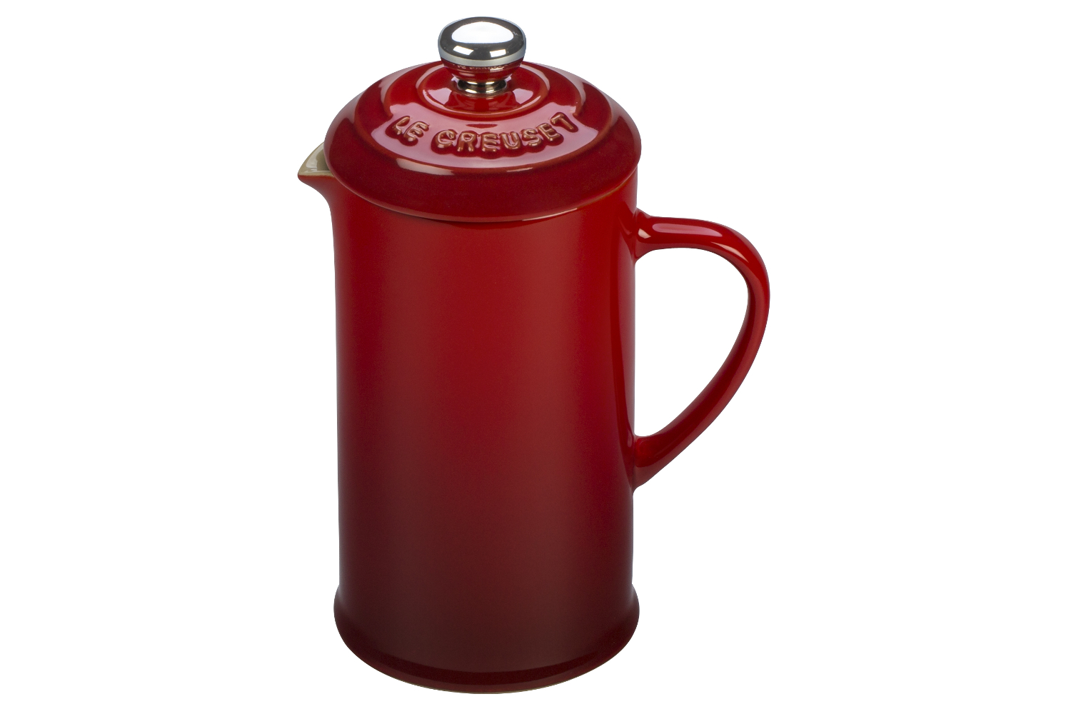 Le Creuset Stoneware 12 oz. French Press - Cerise