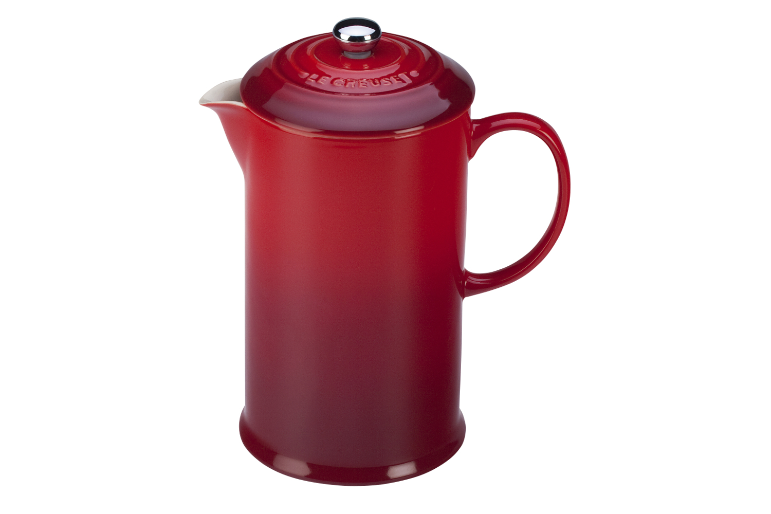Le Creuset Stoneware 27 oz. French Press - Cerise