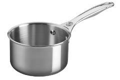 Le Creuset Premium Stainless Steel 1.3 qt. Open Sauce Pan