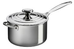 Le Creuset Premium Stainless Steel 3 qt. Sauce Pan w/Lid