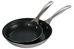Le Creuset Premium Stainless Steel 2 Piece Nonstick Fry Pan Set