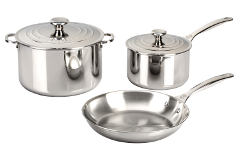 Le Creuset Premium Stainless Steel 5 Piece Cookware Set